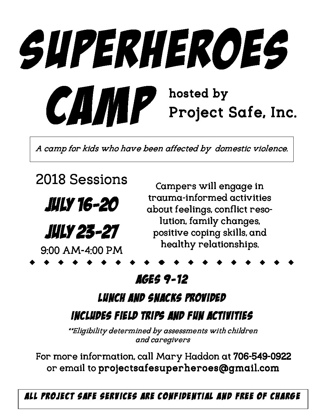 Superheroes Camp 2018