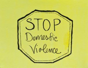 stop domestic violence; yellow and black